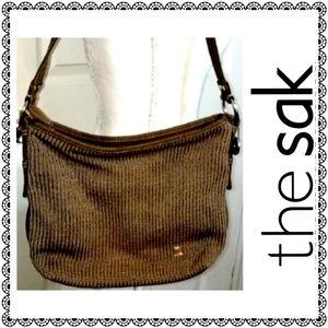 {The Sak} Brown crocheted shoulder bag